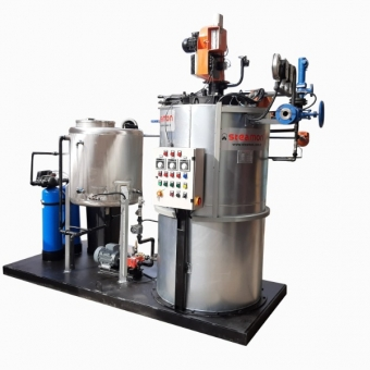 VERTICAL COIL TYPE STEAM GENERATOR